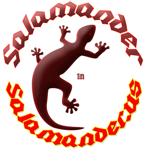 Salamander TM logo with web address.
